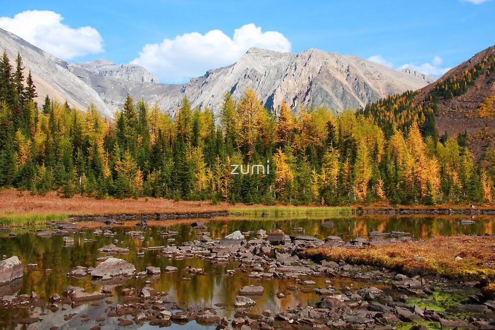Autumnal tarn  by zumi