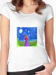 Moonlit Women's Fitted Scoop T-Shirt