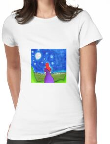 Moonlit Womens Fitted T-Shirt