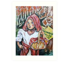 Oh - Ohhhh Little Red Riding Hood  Art Print