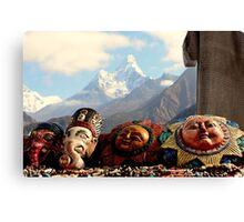 Masks of Ama Dablam Canvas Print