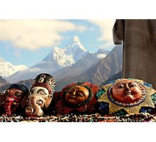 Masks of Ama Dablam Photographic Print