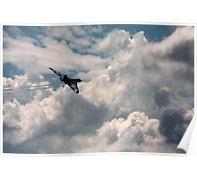 stunning vulcan and cloudscape Poster