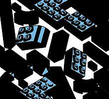 Blue Drawn Legos by Cuddlechimp