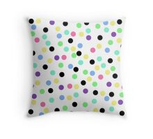 Pastel Dots Throw Pillow