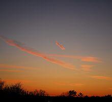 Plane clouds by William Sanford