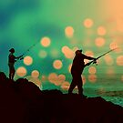 Dusk Fishing by Lynne Haselden