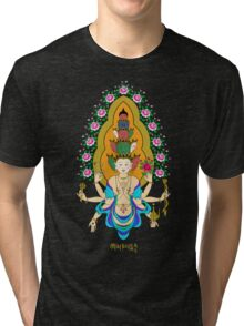 11 Heads of Avalokiteshvala Tri-blend T-Shirt