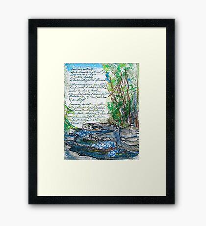 Bubbling Journey Framed Print
