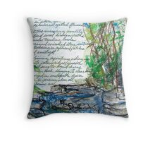 Bubbling Journey Throw Pillow