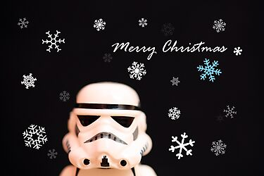 Trooper Christmas card by Emma Harckham