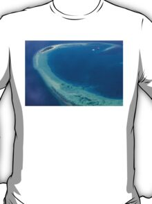 The Maldives North Ari Atolls from above, Eden on Earth T-Shirt