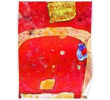 Dirt Road, Red Landscape. Poster