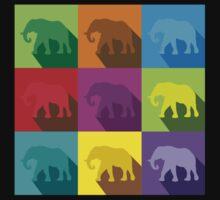 ELEPHANTS in many colours Kids Tee