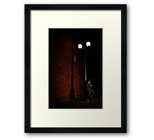 a late night Framed Print
