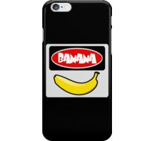 BANANA, FUNNY DANGER STYLE FAKE SAFETY SIGN iPhone Case/Skin