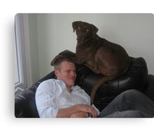 Nes and her Dad Canvas Print