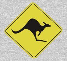 KANGAROO AUSTRALIAN ROAD SIGN One Piece - Long Sleeve