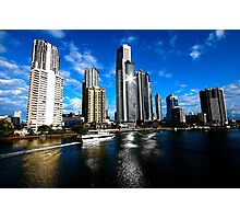 SPARKLING SKYLINE Photographic Print