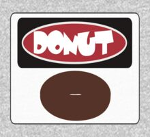 ICED FROSTED DONUT, FUNNY DANGER STYLE FAKE SAFETY SIGN Kids Tee