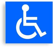 Disabled Access Symbol Canvas Print