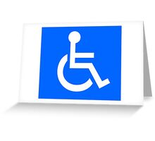 Disabled Access Symbol Greeting Card