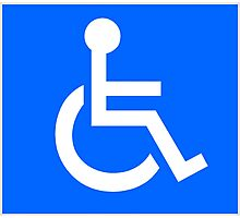 Disabled Access Symbol Photographic Print