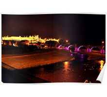 Carcassonne, La Cite and Bridge Poster