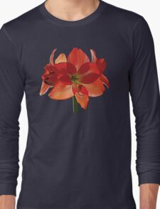 Orange Hippeastrum Amaryllis Long Sleeve T-Shirt