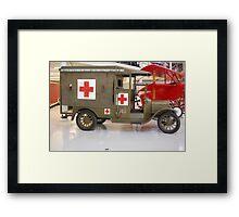 WW1 Ambulance Framed Print
