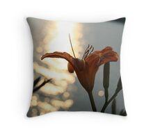 Orange Flower - Burlington Bristol Bridge Throw Pillow