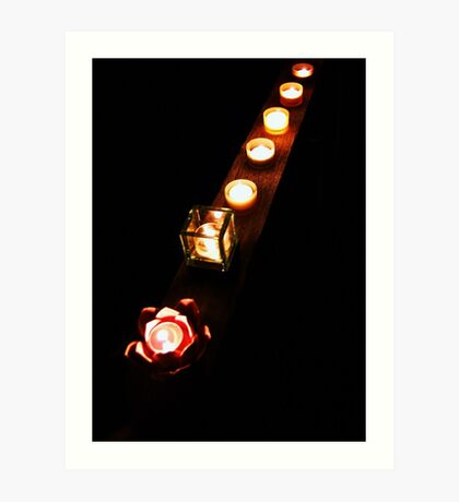 Chakra lights Art Print
