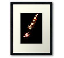 Chakra lights Framed Print