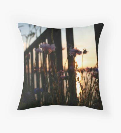 Purple Flowers - Burlington Bristol Bridge Throw Pillow