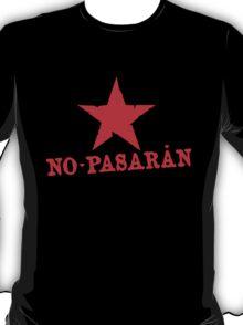 No Pasaran Red Star Slogan T-Shirt