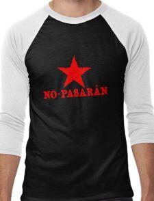 No Pasaran Red Star Slogan Men's Baseball ¾ T-Shirt