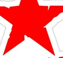 No Pasaran Red Star Slogan Sticker