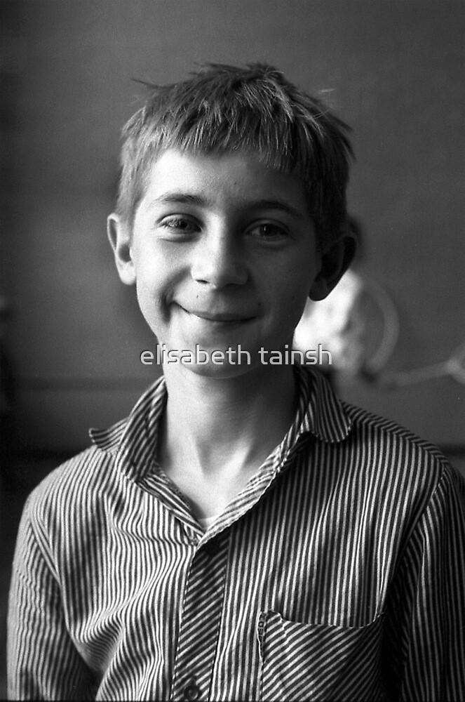 boy in stripes by elisabeth tainsh