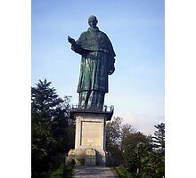 Statue of St Carlo Borromeo Photographic Print