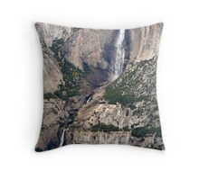 """Upper and Lower Yosemite Falls"" Throw Pillow"