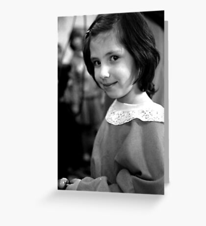russian girl 3 Greeting Card
