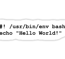 Hello World Shell Sticker
