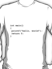 Hello World C T-Shirt