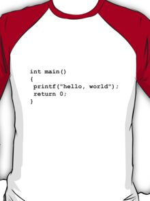 Hello World C T-Shirt