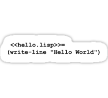 Hello World Lisp Sticker