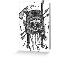 Indian, Native American Skull Greeting Card
