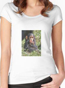 newborn Common Chimpanzee Women's Fitted Scoop T-Shirt