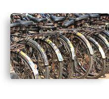 Commuter Bicycles, Mumbai, India Canvas Print