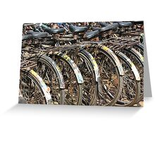 Commuter Bicycles, Mumbai, India Greeting Card