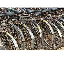 Commuter Bicycles, Mumbai, India Photographic Print